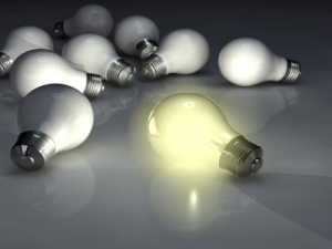 single bulb lit up
